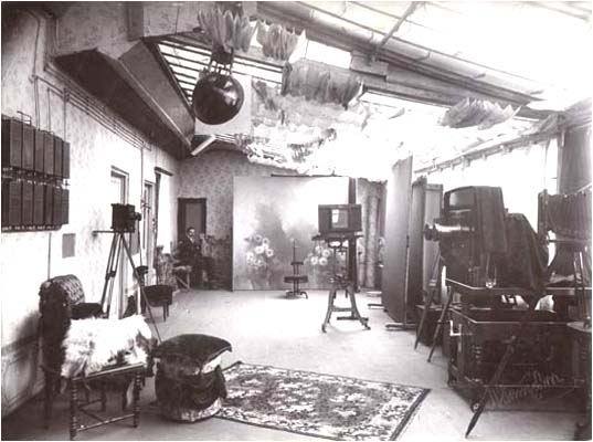 The interior of the P. Gankevich's photographic studio